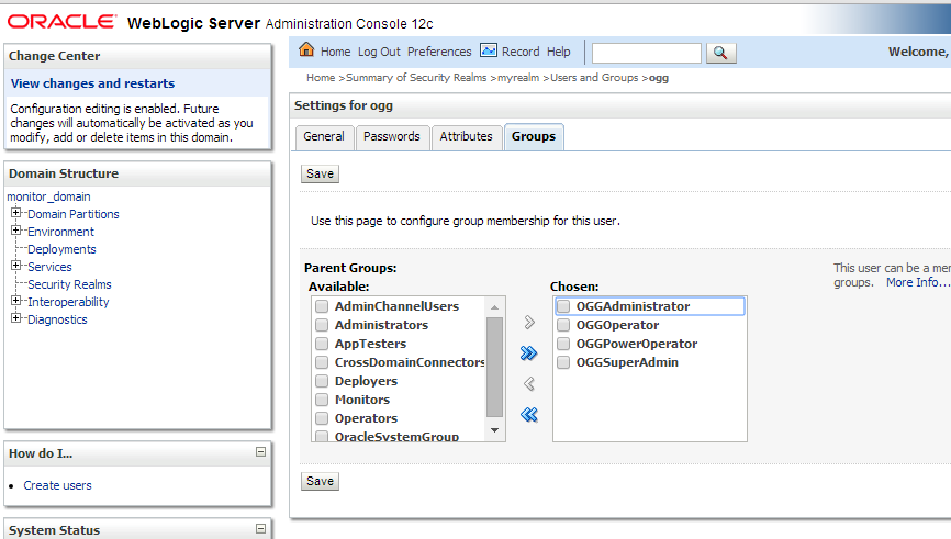 Configuring GoldenGate Monitor 12 2 - Oracle Data Integration, Cloud